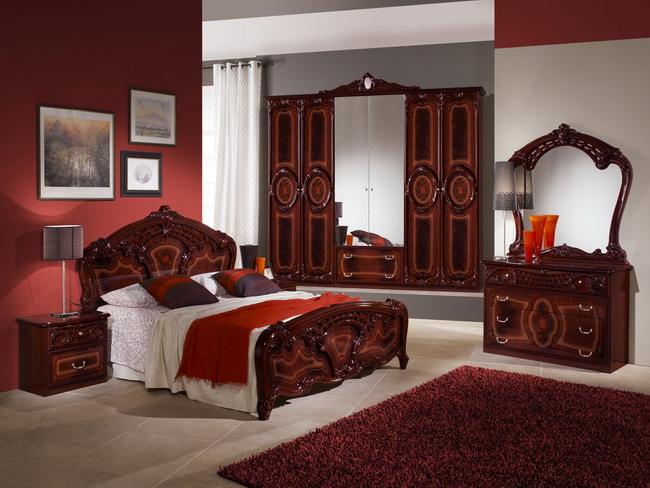 Цвет махагон мебель